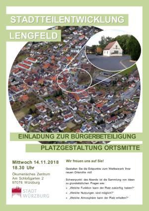 Plakat Beteiligung Lengfeld Ortsmitte